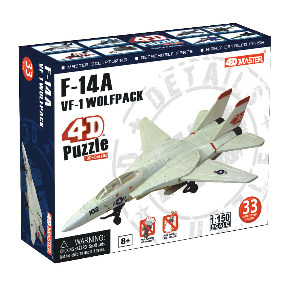 """Сборная модель 4D Master """"Истребитель Wolfpack F-14A VF-1"""""""