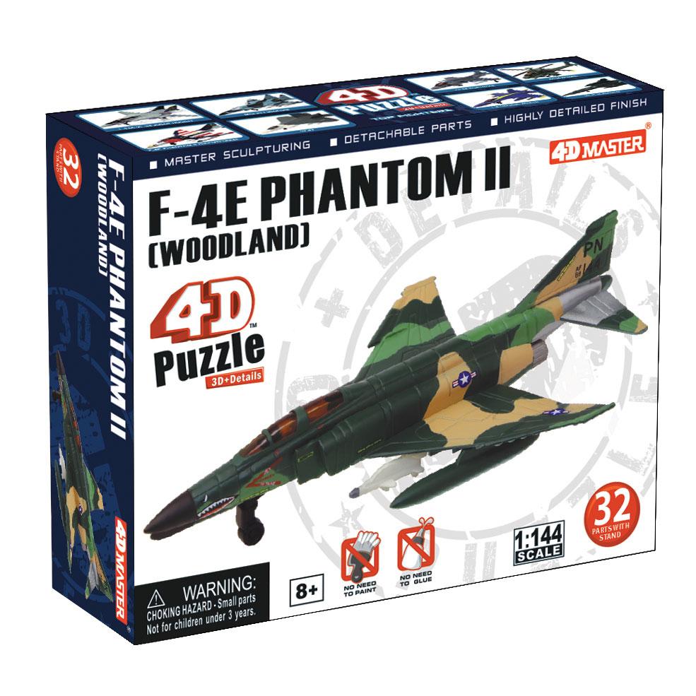 """Сборная модель 4D Master """"Истребитель F-4E Фантом II (Woodland)"""""""