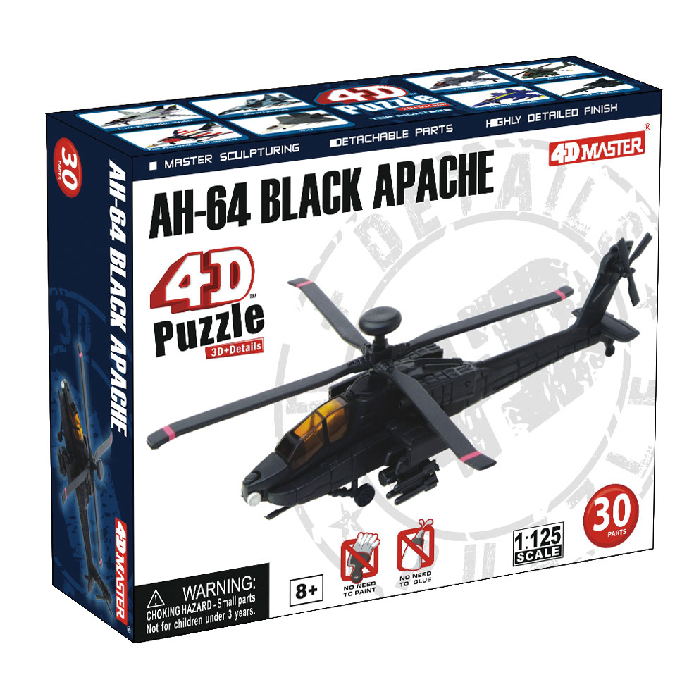 """Сборная модель 4D Master """"Ударный вертолет АН-64 Апач"""""""