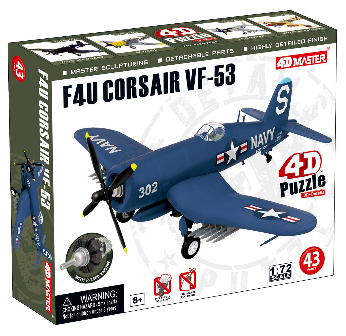 """Сборная модель 4D Master """"Истребитель F4U Корсар VF-53"""""""