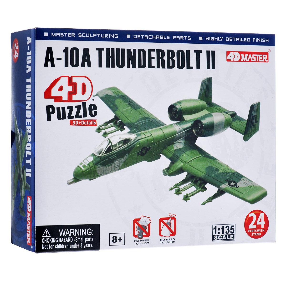 """Сборная модель 4D Master """"Штурмовик A-10A Thunderbolt II"""""""