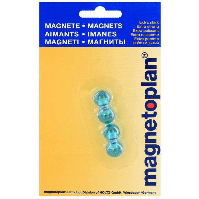 Мини-магниты  Magnetoplan , цвет: голубой, 4 шт -  Аксессуары для досок и флипчартов