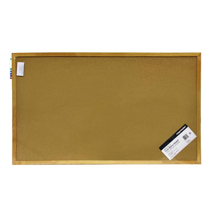 Доска пробковая  Magnetoplan , с деревянной рамкой, 100 см х 60 см -  Доски