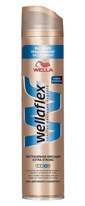 Фото Wellaflex Лак для волос, экстрасильная фиксация, 400 мл. Купить  в РФ