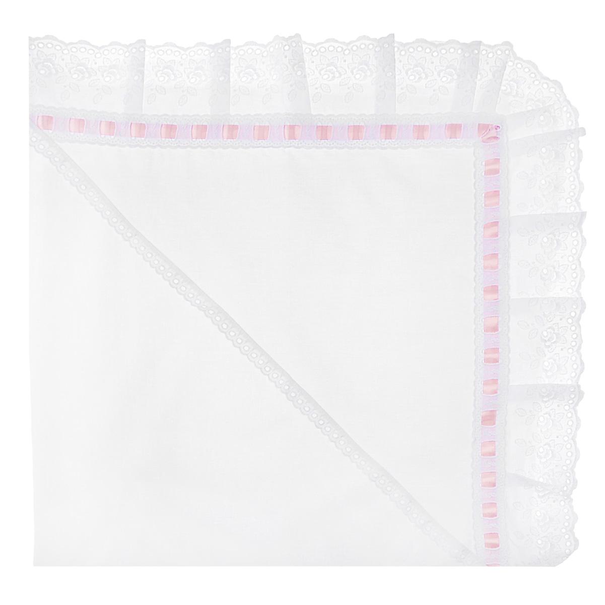 Фото Уголок Трон-плюс, цвет: белый, розовый. 3301. Размер 90х90. Купить  в РФ