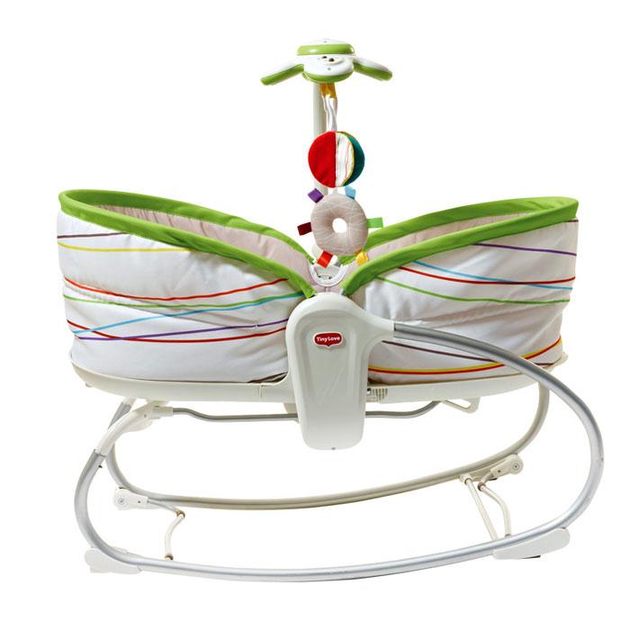 Люлька-баунсер  Tiny Love , цвет: белый, зеленый, 3 в 1 -  Качели и шезлонги