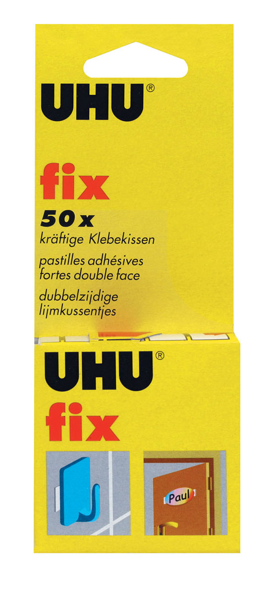 Клеевые подушечки UHU  Fix , двухсторонние, 50 шт -  Клейкая лента