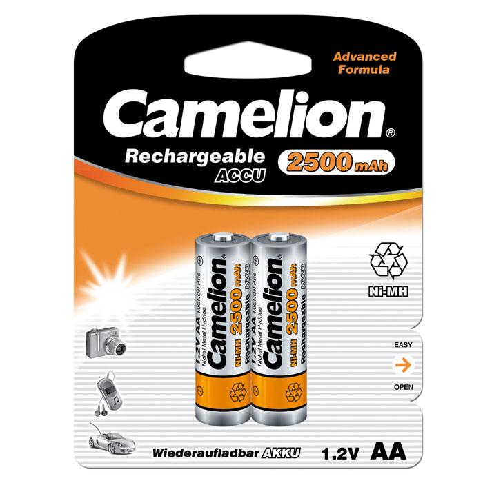 Фото Camelion AA-2500mAh Ni-Mh BL-2 (NH-AA2500BP2) аккумулятор, 1.2В (2 шт). Купить  в РФ