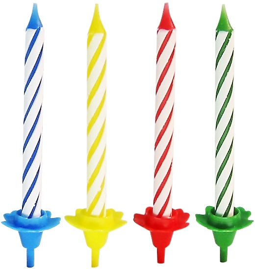 Свечи для торта Fackelmann  Rio , с 12 подставками, 24 шт -  Свечи для торта