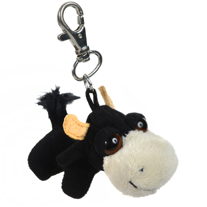 """Фото Мягкая игрушка-брелок """"Животные фермы Пиперс: Корова"""", цвет: черный, 4 см. Купить  в РФ"""