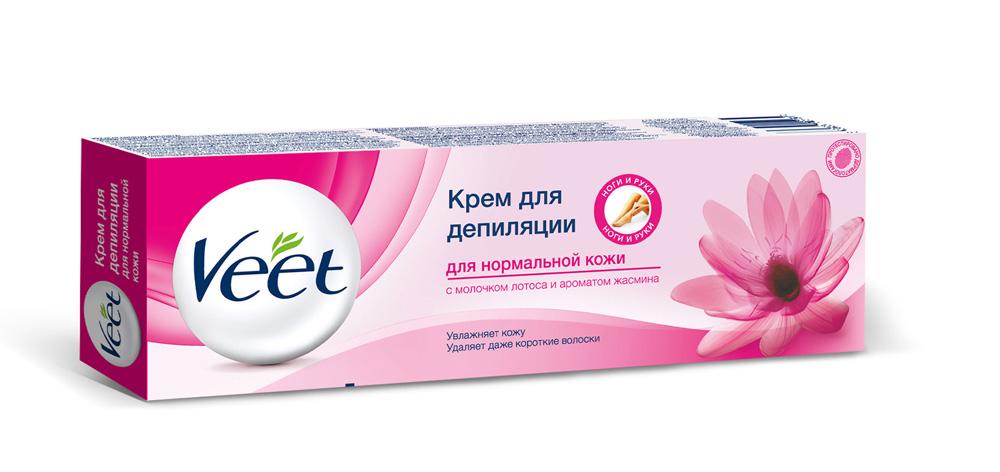 Фото Veet Крем для депиляции, c молочком лотоса и ароматом жасмина, для нормальной кожи, 100 мл. Купить  в РФ