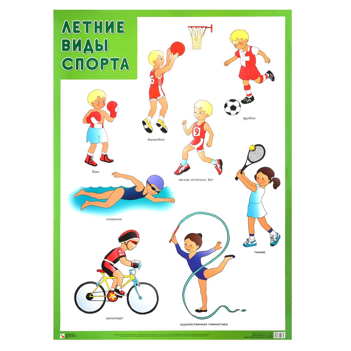 Название спортов рисунками