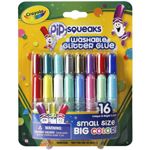 Набор мини-тюбиков с блестящим клеем  Crayola , 16 шт -  Клей