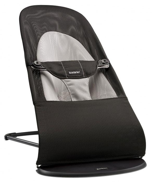Кресло-шезлонг BabyBjorn  Balance Soft Air , цвет: черный -  Качели и шезлонги