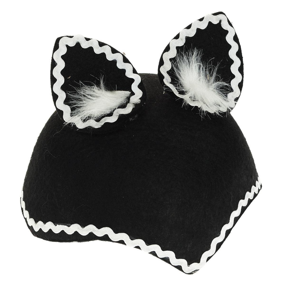 Шапка-маска маскарадная  Волчица , цвет: черный. Размер 55-56 см -  Маски карнавальные