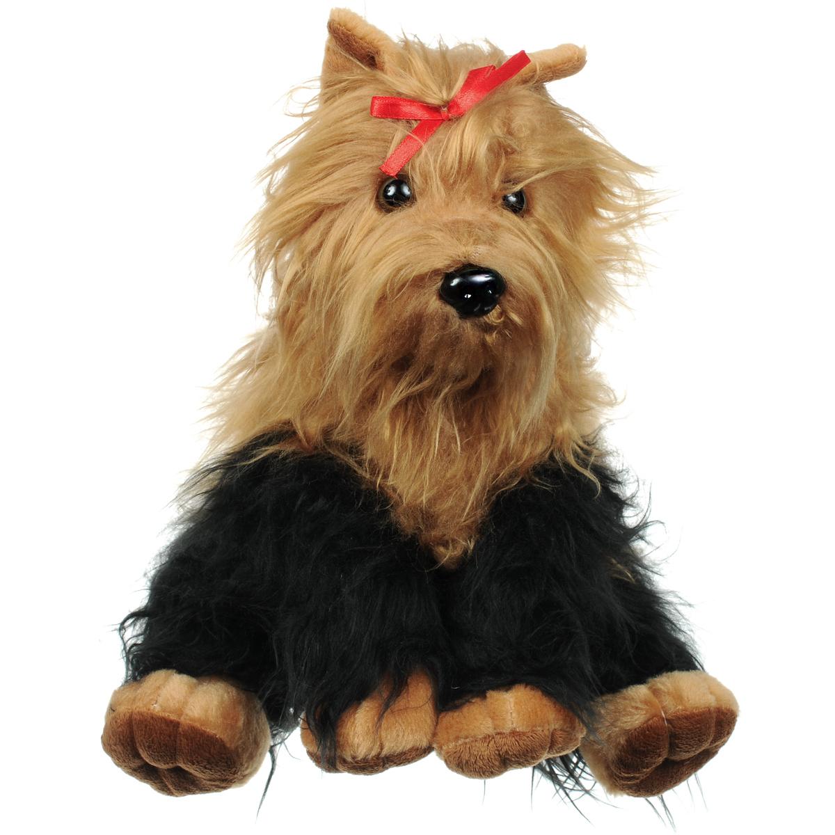 """Фото Мягкая игрушка Fluffy Family """"Йоркширский терьер"""", цвет: коричневый, черный. Купить  в РФ"""