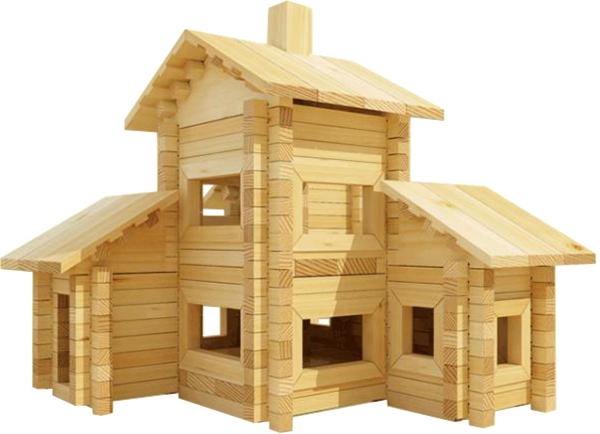 Деревянный конструктор дом для детей своими руками из