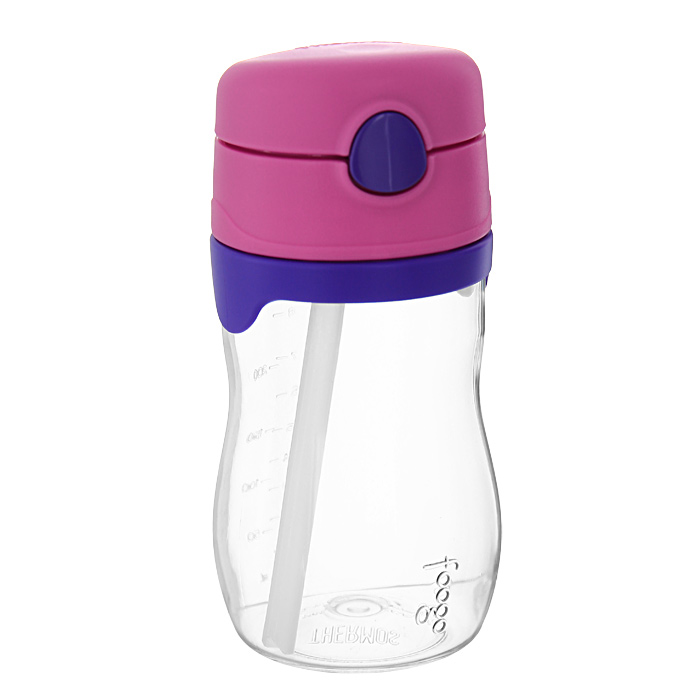 """Фото Поильник Phases """"Foogo"""" с трубочкой, цвет: розовый, сиреневый, 325 мл. Купить  в РФ"""