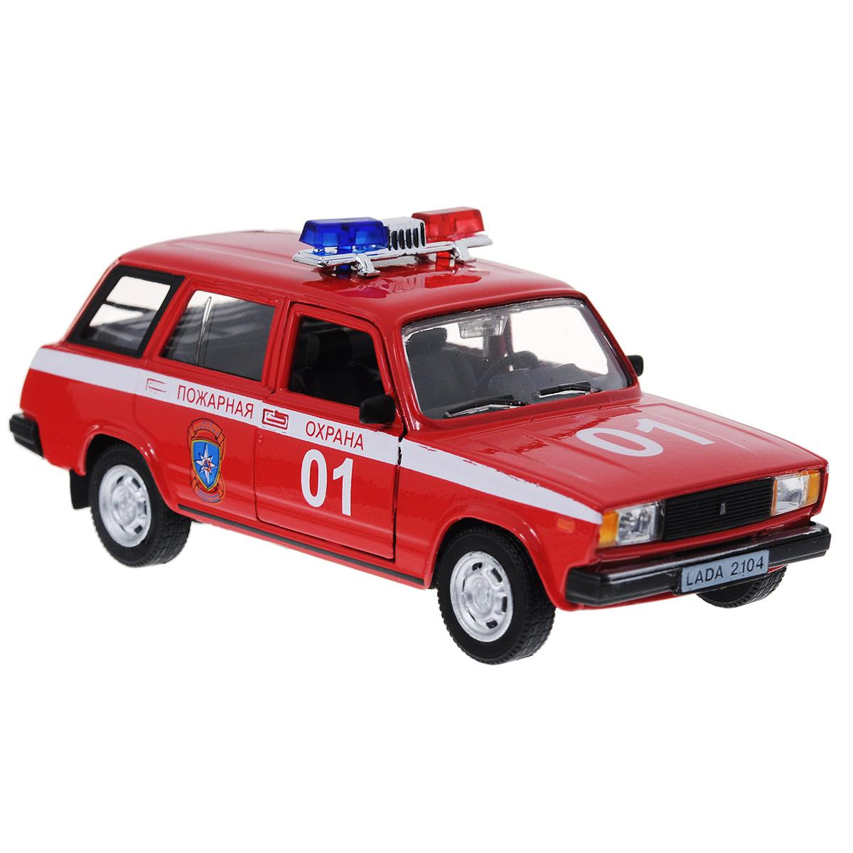 """Фото Модель автомобиля """"LADA 2104: Пожарная охрана"""". Масштаб 1/36. Купить  в РФ"""