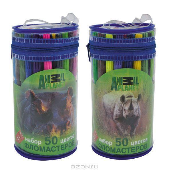 Action! Набор фломастеров Animal Planet 50 цветов -  Фломастеры