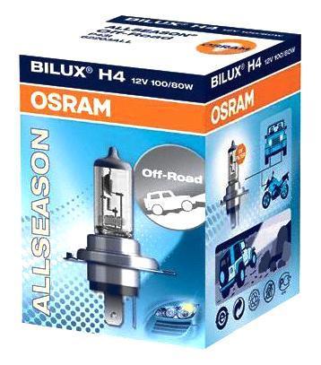 Фото Лампа галогенная Osram H4 Allseason 12V, 55W, 3200 К, 1 шт. Купить  в РФ