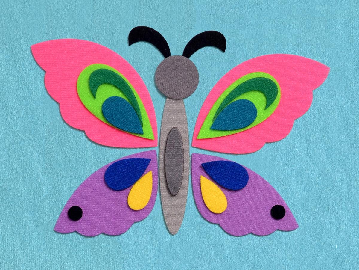 Бабочка для малышей поделка 93