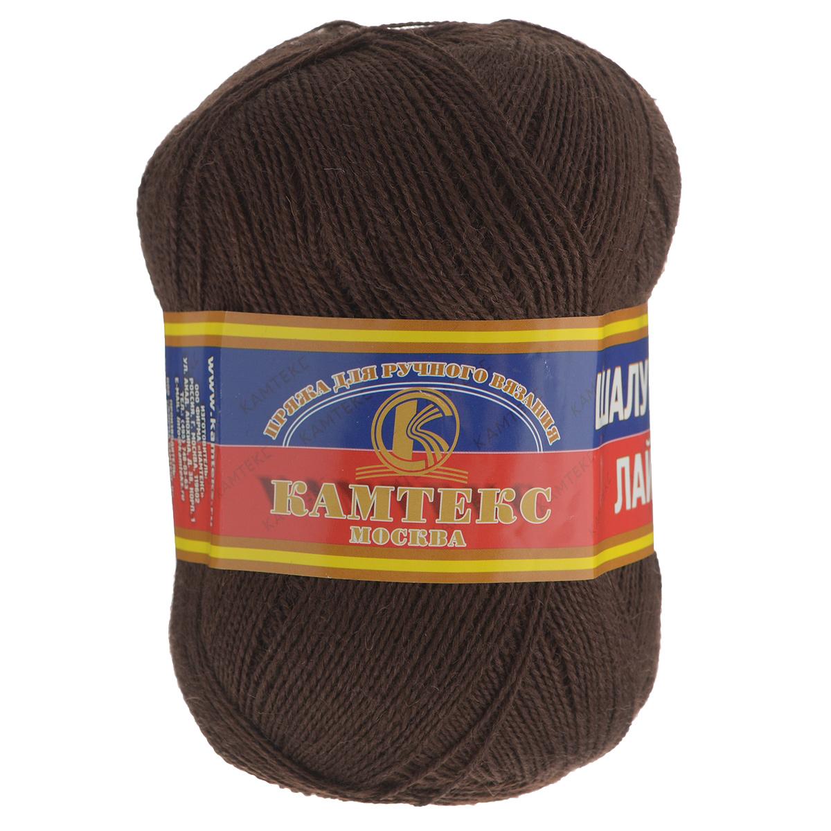 Нитки для вязания шоколадного цвета 27