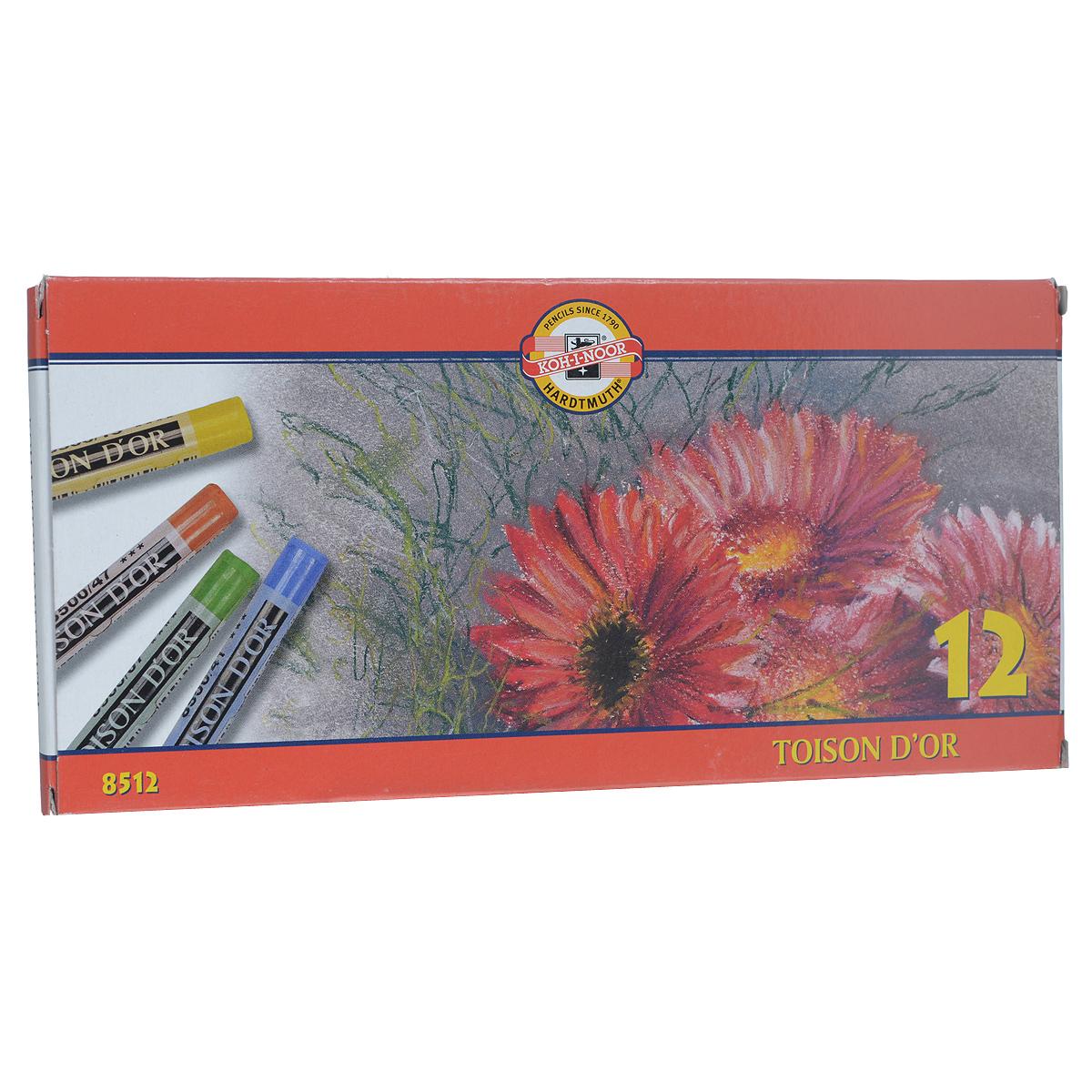 Пастель сухая Koh-i-Noor  Toison D'or , 12 цветов -  Мелки и пастель