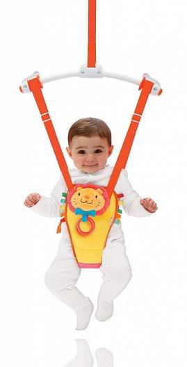 Munchkin прыгунки детские Bounce and Play , цвет: желтый, красный -  Ходунки, прыгунки, качалки