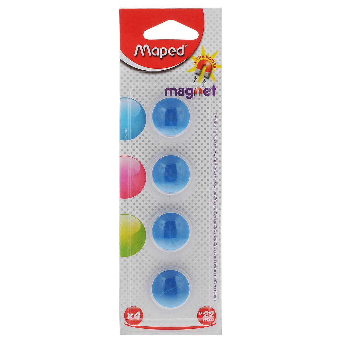 Набор магнитов  Maped , цвет: синий, 22 мм, 4 шт -  Аксессуары для досок и флипчартов