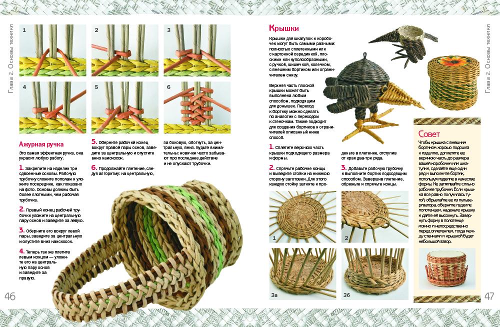 Новые работы по плетению из газет