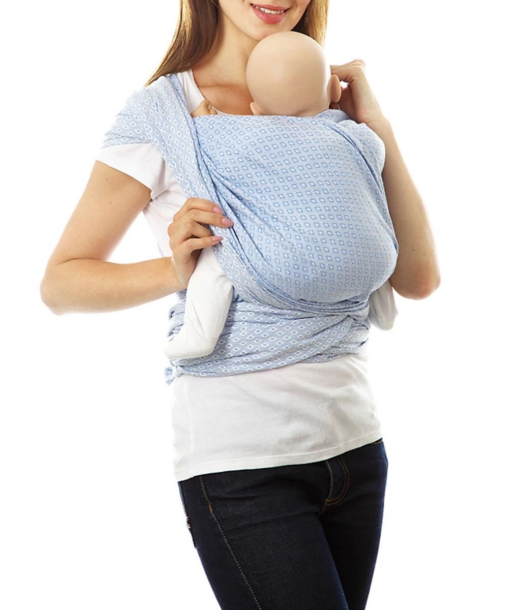 Слинг-шарф Mum's Era  Диамант , цвет: скай. Размер M -  Рюкзаки, слинги, кенгуру