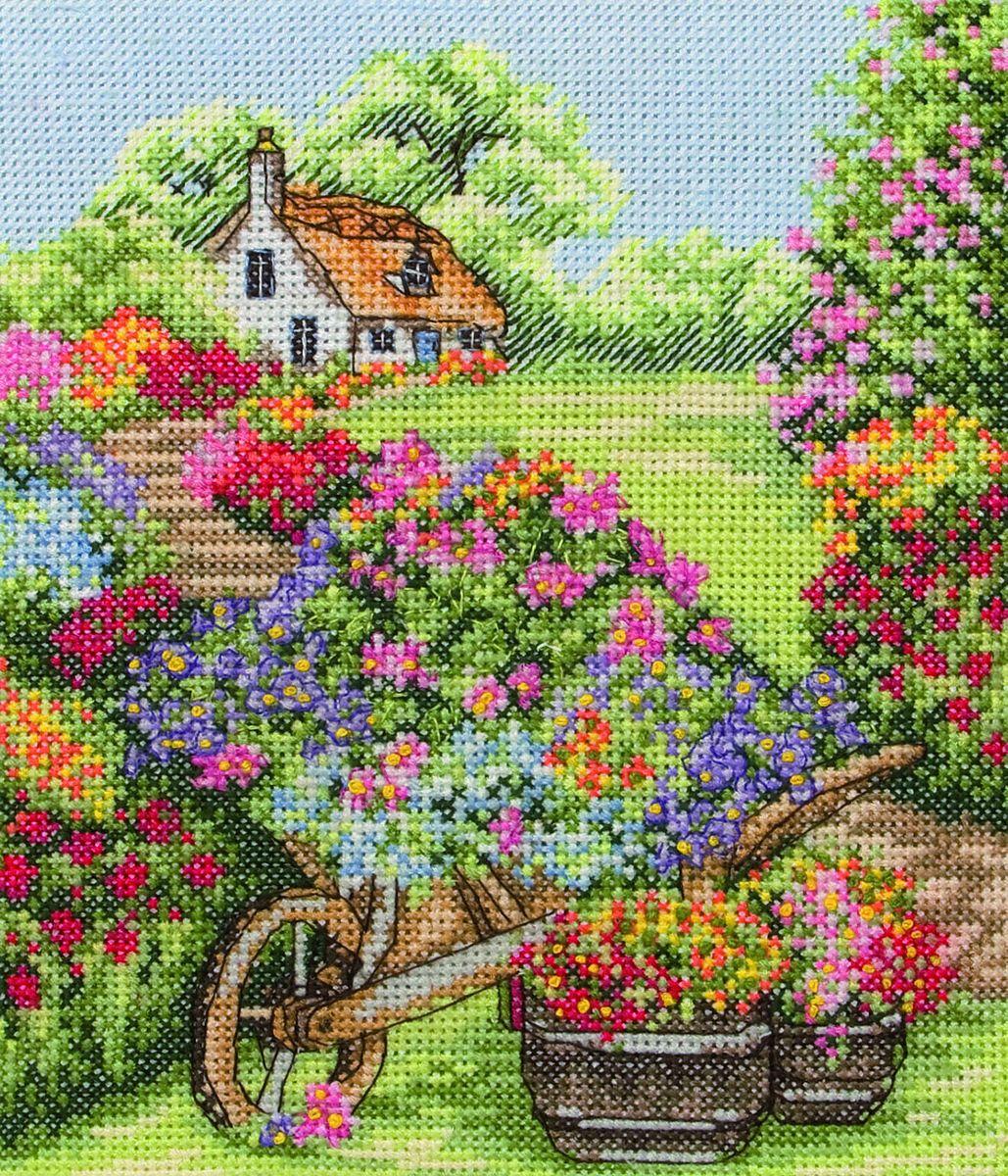 Фото вышивки с цветами 335