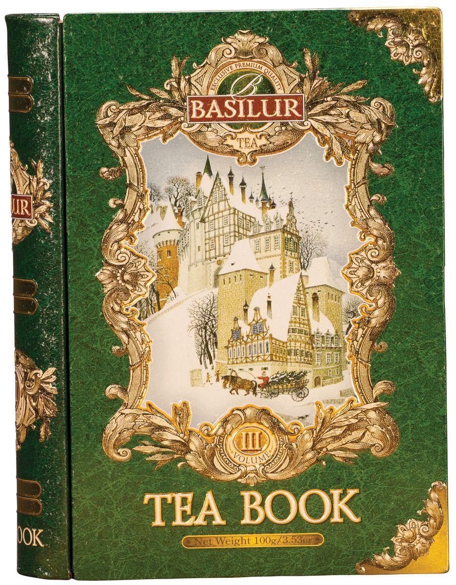 Фото Basilur Tea Book III зеленый листовой чай, 100 г (жестяная банка). Купить  в РФ