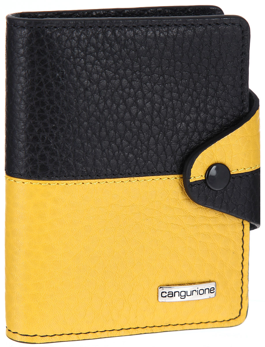 Визитница Cangurione, цвет: черный, желтый. 3324-F -  Визитницы