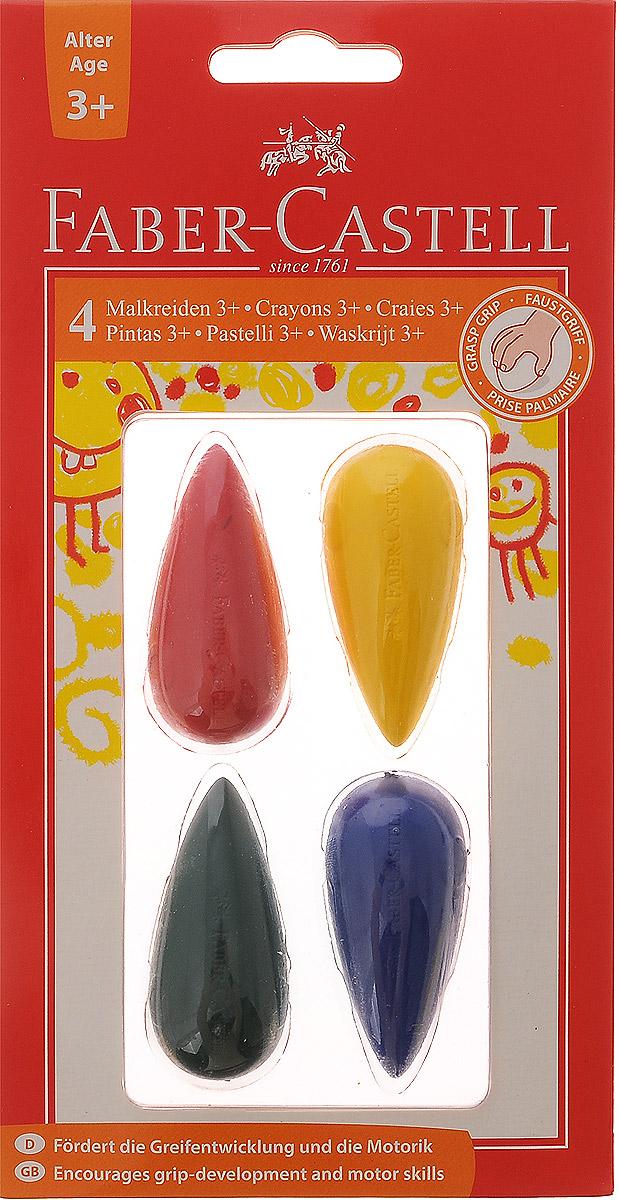 Faber-Castell Мелки цветные для дошкольного возраста 4 шт -  Мелки и пастель