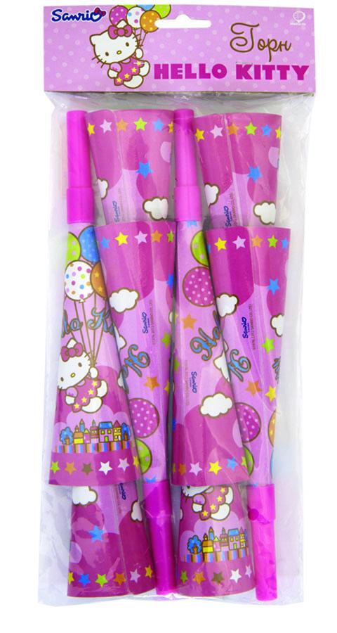 Веселая затея Горн Hello Kitty 8 шт -  Аксессуары для детского праздника