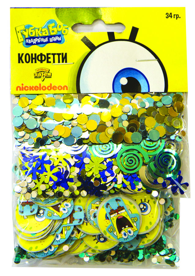 Веселая затея Конфетти Губка Боб 3 вида -  Конфетти