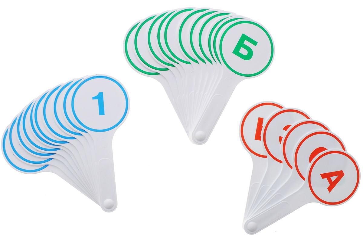 Глобус Обучающий набор 3 кассы-веера гласные буквы согласные буквы цифры от 0 до 20 -  Счетный материал
