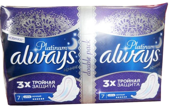 прокладки с крылышками Always Ultra 'Platinum Collection. Night', 14 шт