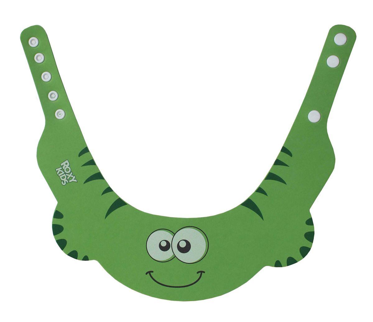 Roxy-kids Козырек защитный для мытья головы цвет зеленый -  Все для купания