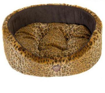 Лежак для животных Happy Puppy  Саванна , цвет: коричневый, бежевый, 50 х 45 х 18 см