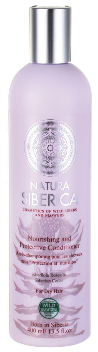 """Фото Бальзам Natura Siberica """"Защита и питание"""", для сухих волос, 400 мл. Купить  в РФ"""