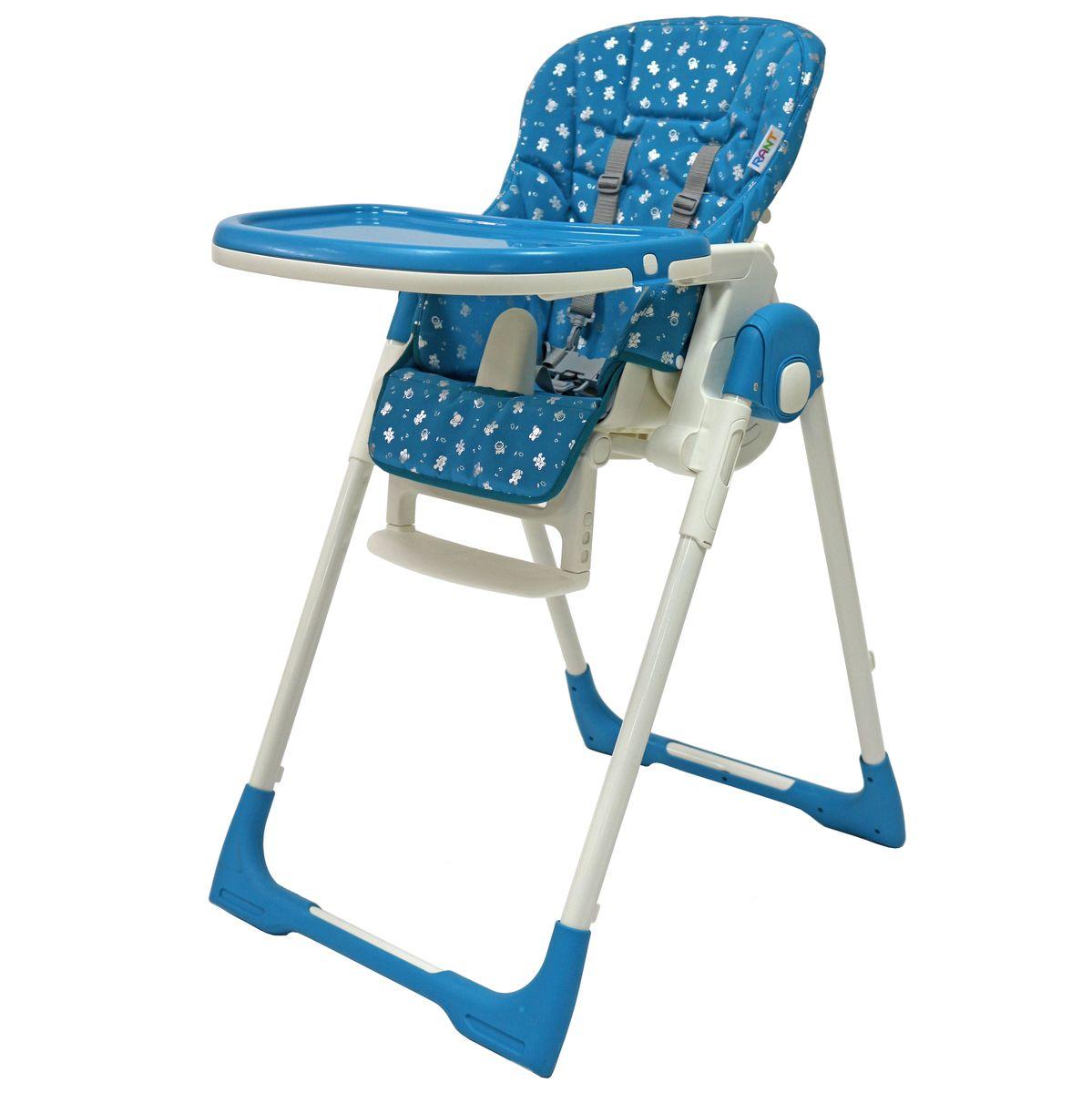 Rant Стульчик для кормления Crystal цвет голубой -  Стульчики для кормления