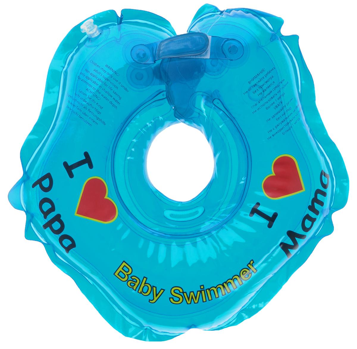 Baby Swimmer Круг на шею цвет голубой 3-12 кг -  Все для купания
