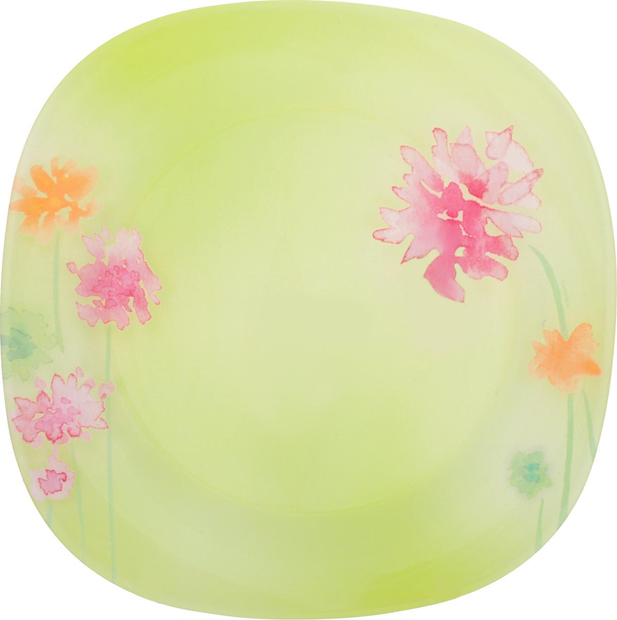 "Фото Тарелка обеденная Luminarc ""Angel Green"", 25 см х 25 см. Купить  в РФ"