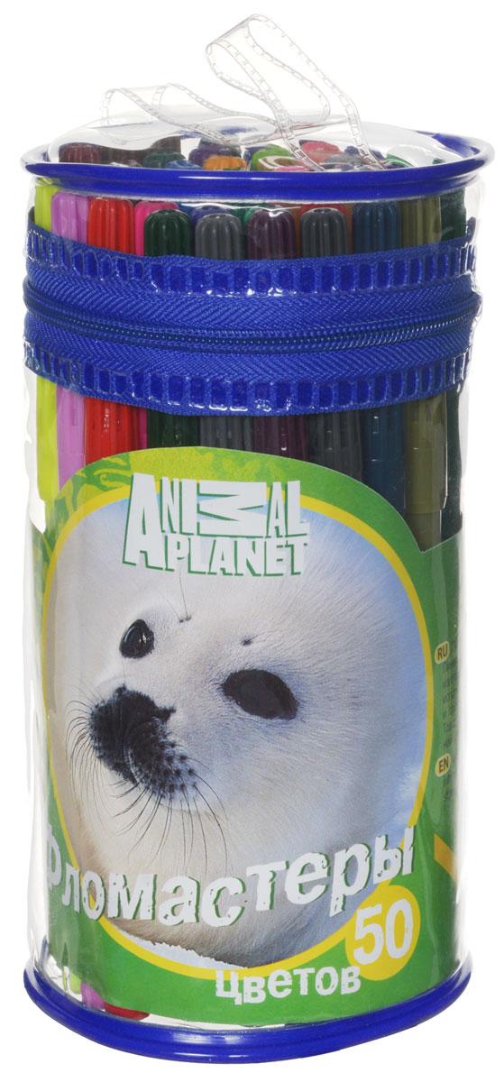 Action! Набор фломастеров Animal Planet Нерпа 50 цветов -  Фломастеры