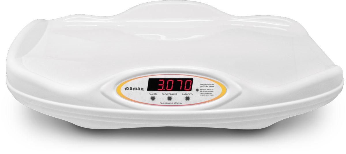 Maman ВЭНд-01 Малыш весы детские электронные настольные -  Весы для новорожденных