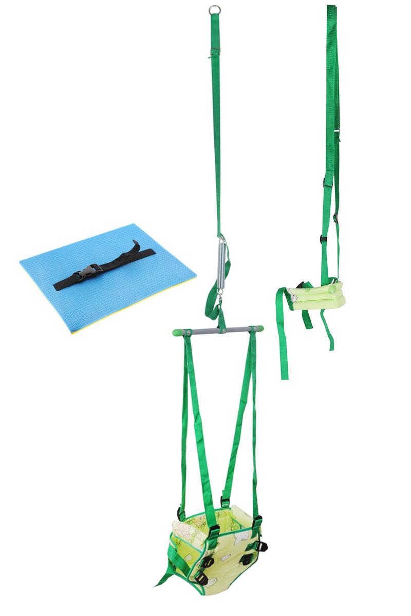 Фея Тренажер-прыгунки 4 в 1 цвет салатовый -  Ходунки, прыгунки, качалки
