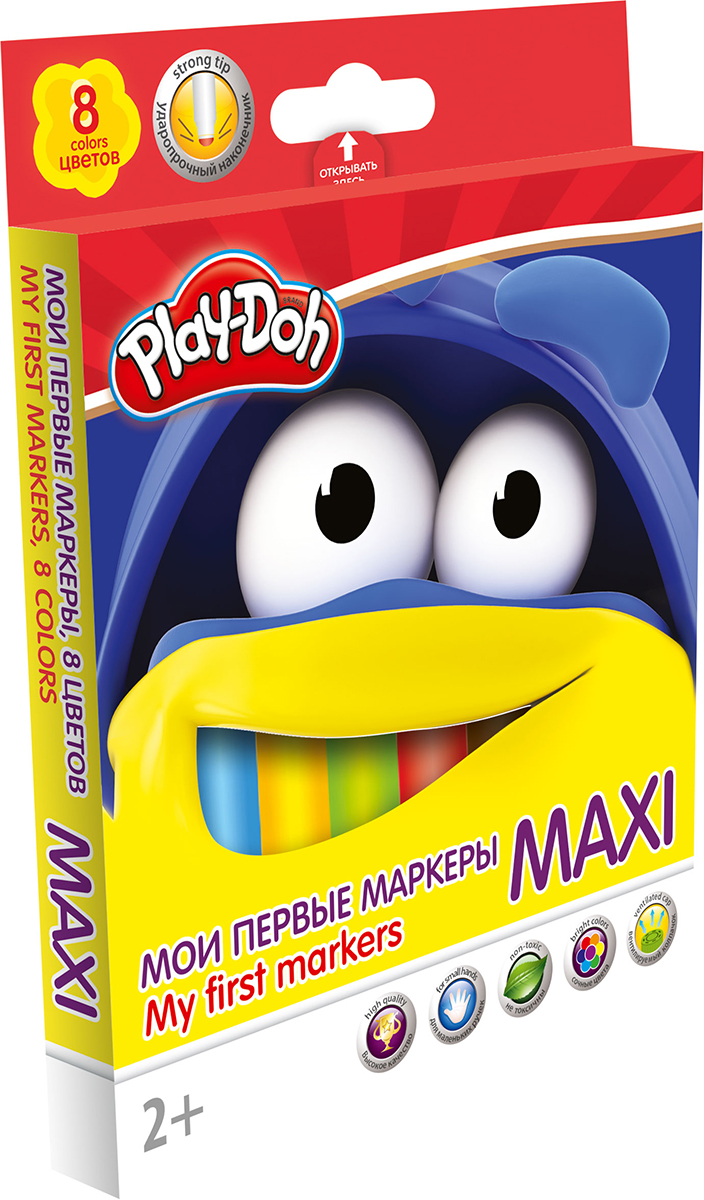 Play-Doh Набор маркеров Maxi 8 цветов -  Фломастеры